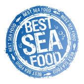 Beste zee voedsel stempel. — Stockvector
