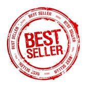 En iyi satıcı damgası. — Stok Vektör