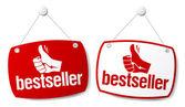 Bestseller tekenen. — Stockvector