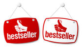 Signos de best seller. — Vector de stock