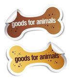 Doods pour autocollants d'animaux de compagnie — Vecteur