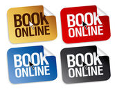 Book online stickers. — Stock Vector