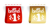 Brand number one labels. — Stock Vector