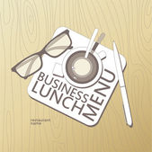 Business Lunch Menu template. — Stock Vector