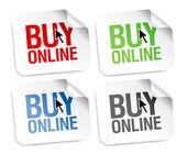 Buy online stickers — Stock Vector