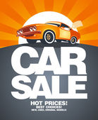 Auto verkoop ontwerpsjabloon. — Stockvector