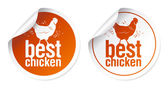 Best chicken meat stickers — Stock Vector