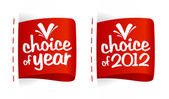 Choice of year labels. — Stock Vector