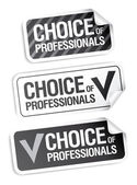 Choice of professionals stickers. — Stock Vector