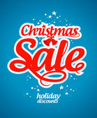 Christmas sale design template. — Stock Vector