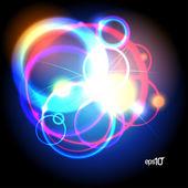 Abstract neon design template. — Stock Vector