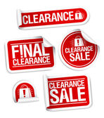 Final clearance sale stickers. — Stockvector