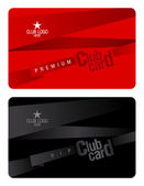 Club card design template. — Stock Vector