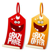 Crazy sale labels. — Stockvector