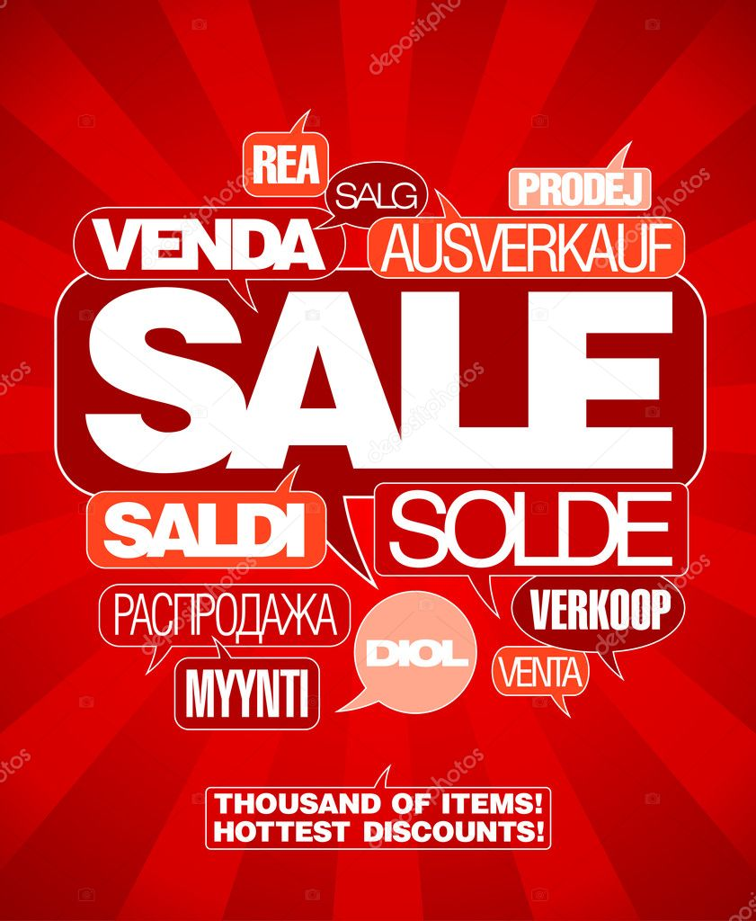 Sale design template written