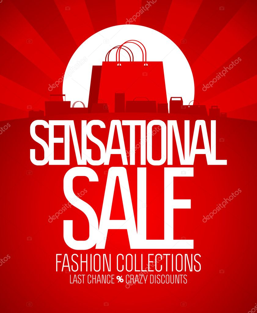 Sensational sale design template. — Stock Vector #14204104