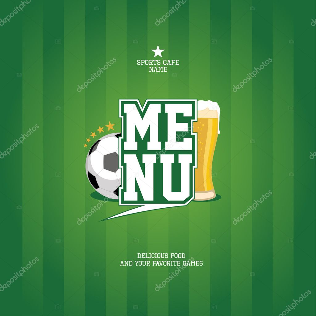 Sports Bar Menu card design template.  — Stock Vector #14204237