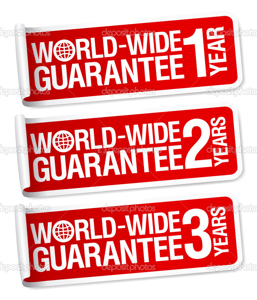World-wide guarantee stickers set — Stock Vector #14205170