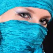Stock Photo: Muslim girl with blue eyes