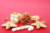 Background with fur-tree decoration — Stock Photo
