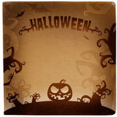 Halloween illustration with place for text — Stock Photo