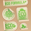 Eco Friendly Formula stickers. - Stock Vector