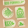 Stock Vector: Eco Friendly Formulstickers.