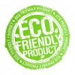 Eco friendly product stamp. — Stockvector