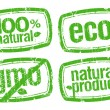 Ecology stamps, GMO free. — Stock Vector