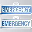 Royalty-Free Stock Vector Image: Emergency stickers.