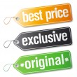 Labels for exclusive sales. — Stock Vector