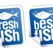 Best fish stickers — Stockvektor