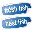 Royalty-Free Stock Vector Image: Best fish stickers