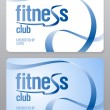 Stock Vector: Fitness club membership card.