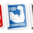 Stock Vector: For champions stickers.