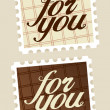 For you postage stamps. — Stock Vector