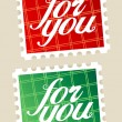 For you postage stamps. - Vettoriali Stock