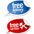 Free delivery, free service stickers. — Stock Vector #14210866