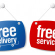 Free delivery signs. — Stock Vector #14210878