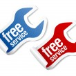 Free service stickers - Stock Vector