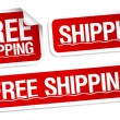Free shipping stickers. — Stock Vector
