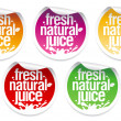 Natural juice stickers. — Stock Vector #14210915