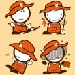 Farmers funny peoples. - Stock Vector