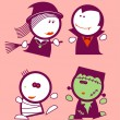 Halloween funny peoples. - Stock Vector