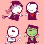 Постер, плакат: Halloween funny peoples
