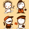 Profession funny peoples. - Stock Vector