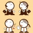 Businessmen peoples. — Stock Vector