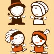 Royalty-Free Stock Vector Image: Indians and Pilgrims funny