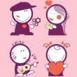 Valentine funny peoples. - Stock Vector