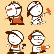 Construction professions funny peoples. — Stock Vector